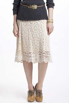 Doily Lace Skirt #anthropologie