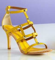 Love these yellow heels, they are so fun!