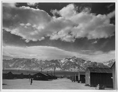 Ansel Adams Captures the Struggle and Beauty of a Japanese-American Internment Camp Manzanar Street Scene, Spring, Ansel Adams. courtesy of Photographic Traveling Exhibitions Sierra Nevada, Great Photographers, Landscape Photographers, Ansel Adams Photos, Arkansas Camping, Pearl Harbor Attack, Japanese American, Gelatin Silver Print, Camping World