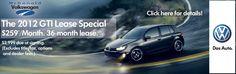 2012 VW GTI Lease Special! Visit McDonald VW near Denver, Colorado for details!