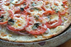 Yeast-Free Pizza Crust (Gluten-Free). I used this to make a quick breakfast pizza. I substituted the corn starch for arrowroot. Turned out delicious!