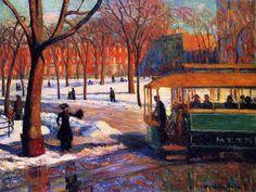GLACKENS, William American Ashcan School (1870-1938)_The Green Car - 1910