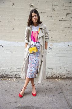 Use a trench coat to create a balanced look when wearing on trend pieces. www.stylestaples.com.au