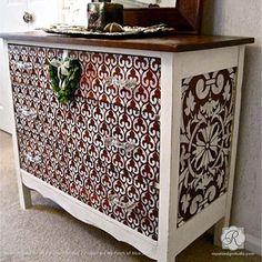 Moroccan Stencils   Moorish Fleur de Lis Stencil   Royal Design Studio Stencils