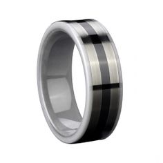 White And Black Ceramic Ring $88
