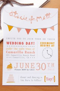8 Unique Handmade Wedding Invitations from Etsy: Gabriella Sanchez. Homemade Wedding Invitations, Creative Wedding Invitations, Diy Invitations, Wedding Stationery, Safe The Date, Wedding Cards, Our Wedding, Trendy Wedding, Wedding Things