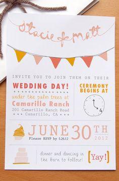 8 Unique Handmade Wedding Invitations from Etsy: Gabriella Sanchez.