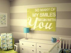 LOVE this wall art for a nursery! #baby #nursery