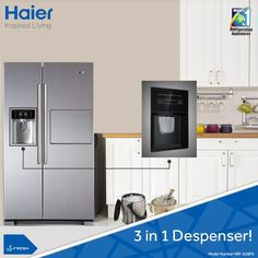 Water to quench your thirst, Ice to chill your drink and Crushed ice for amazing mocktails and desserts. #Refrigerators. #Technology #Appliances #Lifestyle #Innovation #HaierIndia #InspiredLiving