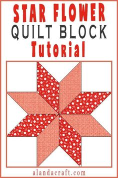 Quilting Blocks: Star Flower Quilt Block Such an easy quilt block to make. The Star Flower quilt block looks great in your quilting projects. Check out our video and step by step tutorial to see just how easy it is. Quilting For Beginners, Quilting Tutorials, Quilting Projects, Quilting Tips, Quilting Designs, Crochet Projects, Sewing Projects, Hunters Star Quilt, Lone Star Quilt