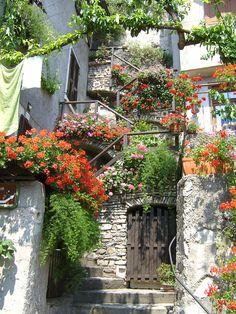 Wonderful stairway...Lake Garda, Italy. Photo by RRobinson