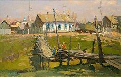 "Nikolay Luckashuk - ""Bridge in Rozhdestveno Village"""