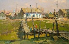 "Nikolay Luckashuk - ""Bridge in Rozhdestveno Village"""