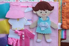 Handmade by mom: Felt quiet book page - paper doll