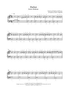 Perfect by Ed Sheeran Piano Sheet Music | Rookie Level