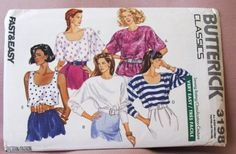 1989 Uncut  Fast and Easy  Butterick Pattern by lovelylovepatterns, $4.00