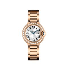Cartier Ballon Bleu in pink gold and diamonds. Available at Alson Jewelers.