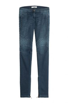 Pierre Balmain Pierre Balmain Skinny Jeans im Biker-Look – Blau