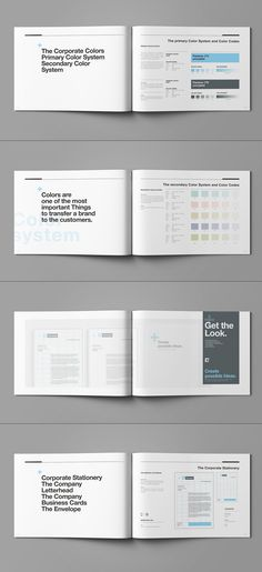 Brand Manual and Identity Template – Corporate Design Brochure – with 44 Pages and Real Text!!!Minimal and Professional Brand Manual and Identity Brochure template for creative businesses, created in Adobe InDesign in International DIN A4 and US Letter…