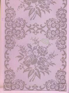 copriletto filet   Hobby lavori femminili - ricamo - uncinetto - maglia