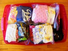 How we packed for our month long vacation, and how we stayed organized