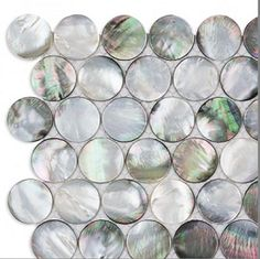 Black Round Penny Mother of Pearl Seashell Tile For Bathroom,Kitchen,Wall,Spa Backsplash Tile Mosaic Tiles, Wall Tiles, Online Tile Store, Pool Shower, Tile Stores, Fireplace Wall, Mother Pearl, Natural Texture, Kitchen Backsplash