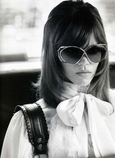 Jane Fonda look-a-like Freja Beha Erichsen by Terry Richardson, Vogue Nippon August 2010 Seventies Fashion, 70s Fashion, Vintage Fashion, Womens Fashion, Vintage Dior, Style Fashion, Dress Vintage, Spring Fashion, Looks Style