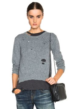 buy online eff8c fcd8d Shop for Light Cashmere Sweater in Heather Grey at FWRD.