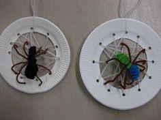 Preschool Crafts for Kids*: Halloween Spider Web Paper Plate Craft
