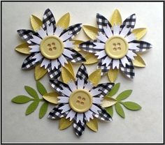 Hey, I found this really awesome Etsy listing at https://www.etsy.com/listing/27280197/cute-button-center-paper-flowers-yellow