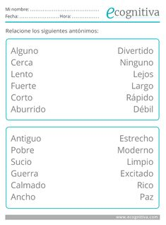 ✅ Ejercicios de Lenguaje para mayores| Estimulación Cognitiva Elementary Spanish, Spanish Class, Alzheimers, Speech Therapy, Worksheets, Activities For Kids, Coaching, Homeschool, Classroom