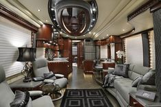 True Meaning of Luxurious RV Interior Ideas There are a lot of things you will need to purchase and maintain while owning your RV. RVs are available in many … Rv Interior, Interior Motorhome, Trailer Interior, Studio Interior, Interior Ideas, Interior Design, Rv Motorhomes, Luxury Motorhomes, Luxury Yachts