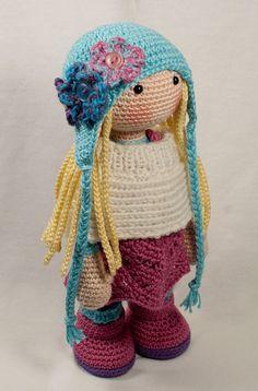 Crochet pattern for doll SUE Deutsch English от CAROcreated