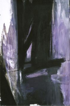 "philamuseum: "" Franz Kline, ""Torches Mauve,"" 1960 Happy birthday to Franz Kline who was born on this day in Wilkes-Barre, Pennsylvania. This influential Abstract Expressionist painter. Action Painting, Oil Painting Abstract, Abstract Art, Watercolor Artists, Painting Lessons, Painting Art, Watercolor Painting, Purple Painting, Large Painting"