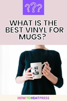 What Is The Best Vinyl For Mugs? Oracal, Siser, Cricut Permanent Vinyl? Discover our vinyl recommendations in this blog post. Diy Mugs, Sublimation Mugs, Vinyl Decor, Cricut Vinyl, Vinyl Projects, Heat Transfer Vinyl, Adhesive Vinyl, Good Things, Blog