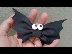 MARATÓN ESPECIAL IDEAS DE HALLOWEEN / DIY BOWS / Moño murciélago idea No.1 - YouTube