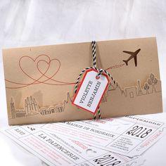 Faire-part Mariage - ref 49526 Collection Faire-part Mariage Duo Wedding Bride, Wedding Cards, Wedding Gifts, Dream Wedding, Aviation Wedding, Aviation Theme, Travel Themes, Invitation Cards, Destination Wedding