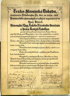 Czechs and Slovaks mark anniversary of 'Pittsburgh Agreement' leading to statehood Independence Hall, Declaration Of Independence, Continental Europe, Carpathian Mountains, One Hundred Years, Central Europe, Bratislava, Vintage Photography, Czech Republic