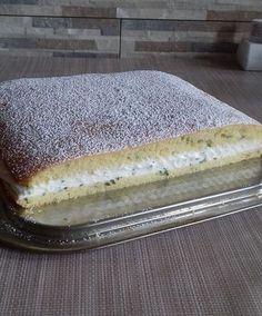 Citromfű süti frissen szedett citromfűből, Mascarpone-s töltelékkel