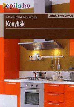 A tartalomból    A konyha helye a házban vagy a lakásban  Konyhatípusok  A konyha alaprajzi elrendezése  Különálló vagy a lakótérrel egybenyitott konyha  Ebédlő vagy étkezősarok  Konyhai ergonómia  A konyha stílusa  Színek a konyhában  A konyha megtervezése konyhastúdióban    Konyhai felületek  A megfelelő padlózat  A falfelületek kialakítása    A konyhabútorok kialakítása  A konyhabútor anyaga  A konyhabútor részei  A munkalapok  A konyhasor hátsó fala    Konyhagépek  Hűtőzóna  Főzőzóna  Mosoga Kitchen Cabinets, Home Decor, Products, Decoration Home, Room Decor, Cabinets, Home Interior Design, Gadget, Dressers