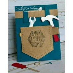 Diy Father's Day Cards, Cute Cards, Masculine Birthday Cards, Masculine Cards, Creative Birthday Cards, Fathers Day Crafts, Happy Fathers Day, Fathers Day Cards Handmade, Father's Day Diy