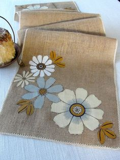 Burlap table runner wedding table runner summer by HotCocoaDesign: