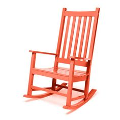 Salmon rocking chair. perfect for a front porch.