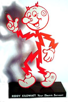 Reddy Kilowatt Electric company icon...Uncle Fred used to bring these to me...wish I'd kept one...