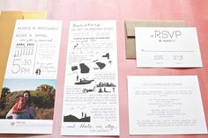 How We Met Invitations - Ruffled Ink