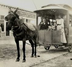 The old mule train | 27 Photos that Show what Palm Beach used to Look Like | Boca Life Magazine