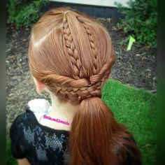 """A's hairstyle today was inspired by the most recent Babes in Hairland tutorial. I revised it a bit because of A's shorter hair.  #babesinhairlandblog #whphairplay #braids #braidedponytail #wrappedponytail #hotd #hairofinstagram #hairoftheday #hairstylesforgirls #cutegirlshairstyles #braided #beachhaircontest #redhead #prettyhairstyles"" Photo taken by @little.red.braids on Instagram, pinned via the InstaPin iOS App! http://www.instapinapp.com (07/18/2015)"