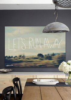 'Let's Run Away' Gallery-Wrapped Canvas