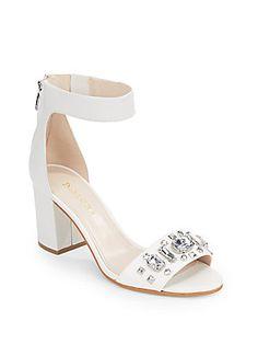 Gavenia Jeweled Ankle-Strap Sandals - SaksOff5th