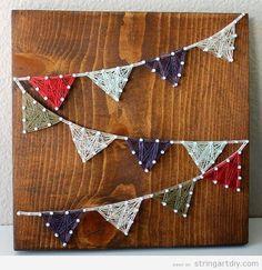 Triangle garland String Art DIY